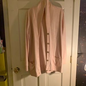 J crew pink button up sweater